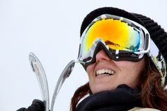 Skier portrait Royalty Free Stock Photo