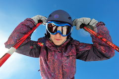 Skier portrait Royalty Free Stock Photography