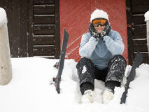 Skier portrait Royalty Free Stock Photo