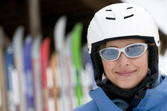 Skier portrait Stock Photo