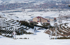 Skier Posing On Slope In Turkish Ski Resort Stock Image