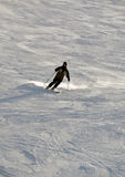 Skier in powder snow Royalty Free Stock Image