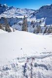Skier ready to go skiing on the Ski slopes in Hoch-Ybrig ski res Stock Photography