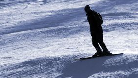 Skier silhouette Stock Photos