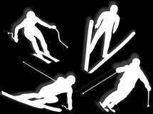 Skier silhouette Stock Image