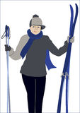 The skier in the  Royalty Free Stock Photos