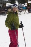 Skier At Ski Resort Royalty Free Stock Images