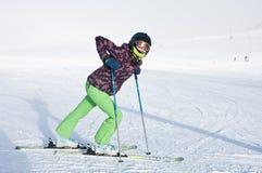 Skier. Ski resort of Kaprun. Austria Royalty Free Stock Photo