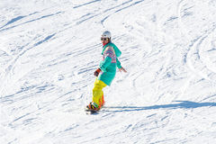 Skier skiing on Deogyusan Ski Resort. Stock Image