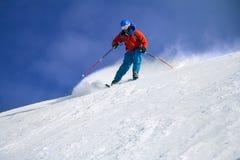 Skier skiing Stock Photo