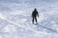 Skier skiing Royalty Free Stock Photo