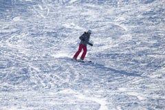 Skier skiing Stock Photos