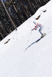 Skier skiing on the scarp Stock Photo