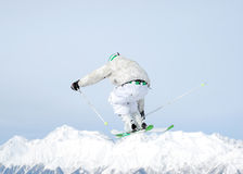Skier in the sky Royalty Free Stock Image