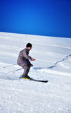 Skier on a slope. At Sureanu skiing resort, Romania Stock Photos