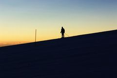 Skier on a slope Stock Image