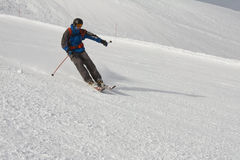 Skier at the slope Stock Images