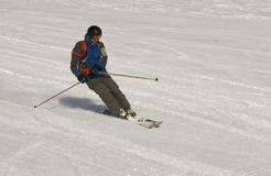 Skier at the slope Stock Photos