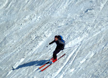 Skier on the slope Royalty Free Stock Photo