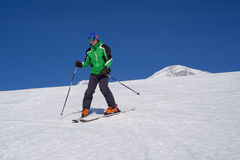 Skier on the slope Stock Photos