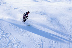 Skier on the slopes Stock Photography
