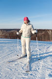 The skier standing on a slope Royalty Free Stock Photography