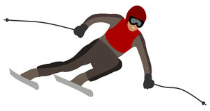 Skier taking a turn Stock Image