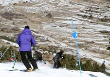 Skier  Teruel province Spain Royalty Free Stock Image