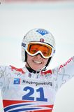 Skier Tina Weirather portrait closeup Royalty Free Stock Images