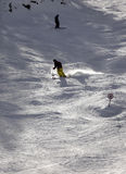 Skier on top of the mountain Stock Photos