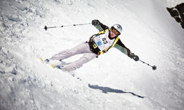 Skier turning Stock Image