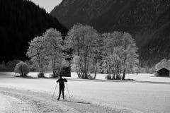 Skier in val di vizze Royalty Free Stock Photos