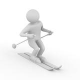 Skier on white background Stock Photo
