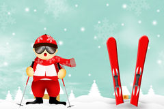 Skier in winter Royalty Free Stock Images