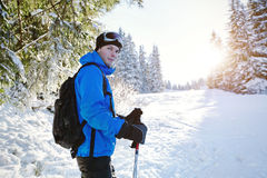 Skier, winter sport Stock Photos