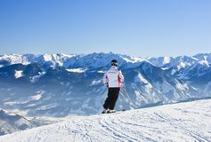 Skier.  Zell am See, Austrian Stock Photos