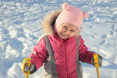 skierbarn Arkivfoto