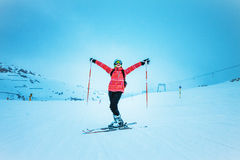 Skierl,  extreme winter sport Royalty Free Stock Photography