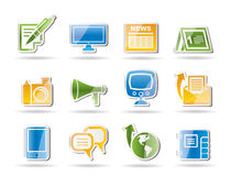 skierowywa ogólnospołecznych ikona komunikacyjnych środki Zdjęcia Stock