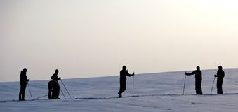 Skiers Royalty Free Stock Images