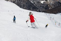 Free Skiers Royalty Free Stock Photos - 21223028
