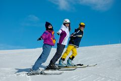 Skiers Royalty Free Stock Image