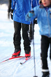 Skiers. On a winter day Royalty Free Stock Photos