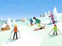 skiers Fotos de archivo libres de regalías