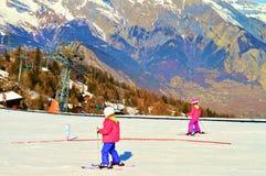 skiers Fotografie Stock