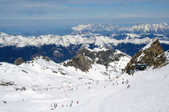 Skiers in Alps Royalty Free Stock Photography