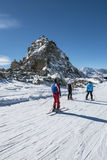 Skiers in the alps Stock Images