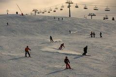 Free SKiers Enjoy Fresh Snow Stock Photography - 208158912