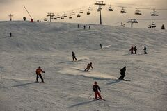 SKiers enjoy fresh snow