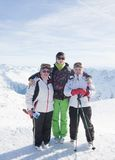 Skiers mountains Stock Photos